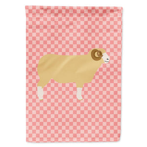 Buy this Horned Dorset Sheep Pink Check Flag Garden Size