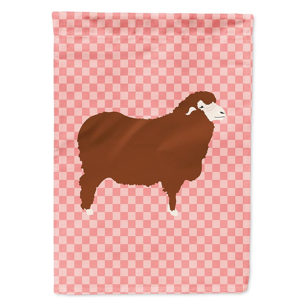 Buy this Merino Sheep Pink Check Flag Garden Size