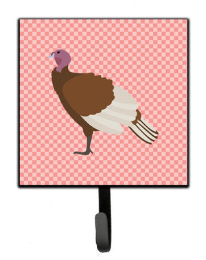 Buy this Bourbon Red Turkey Hen Pink Check Leash or Key Holder