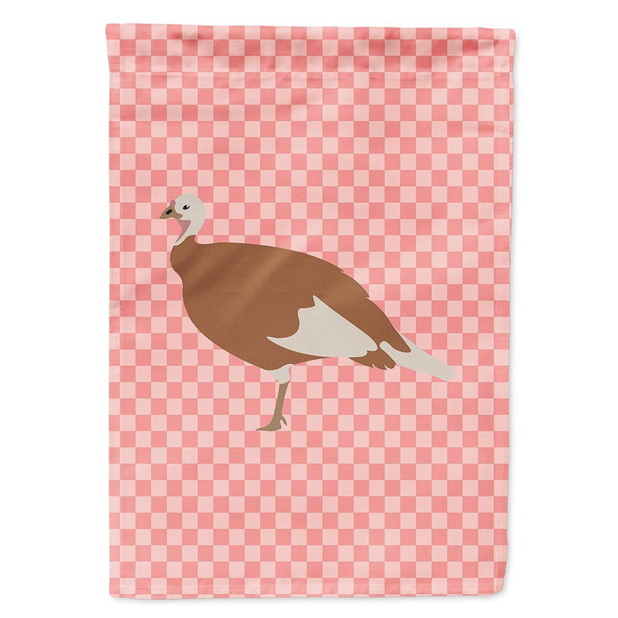 Buy this Jersey Buff Turkey Hen Pink Check Flag Garden Size