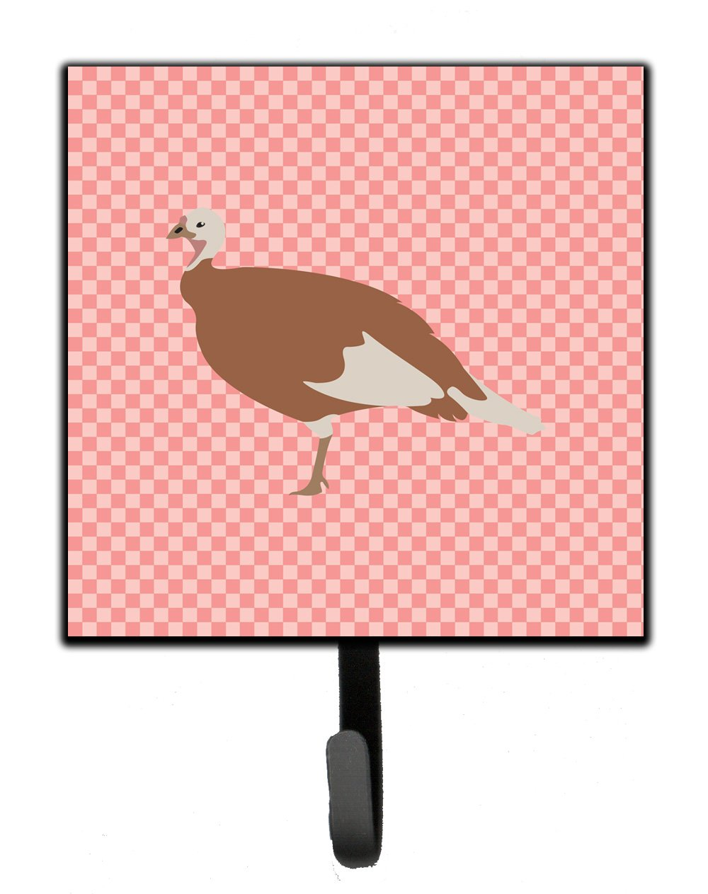 Buy this Jersey Buff Turkey Hen Pink Check Leash or Key Holder