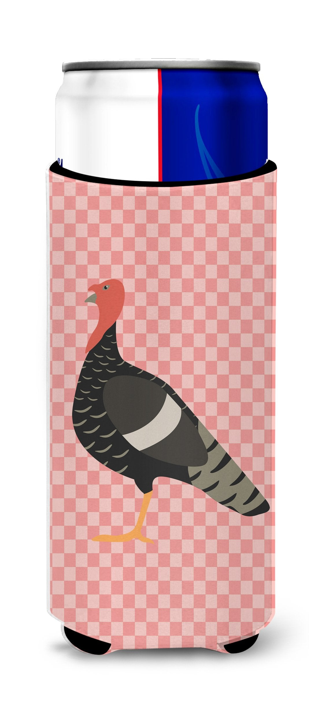 Buy this Marragansett Turkey Pink Check Michelob Ultra Hugger for slim cans