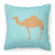 Arabian Camel Dromedary Blue Check Fabric Decorative Pillow BB7991PW1818 by Caroline's Treasures