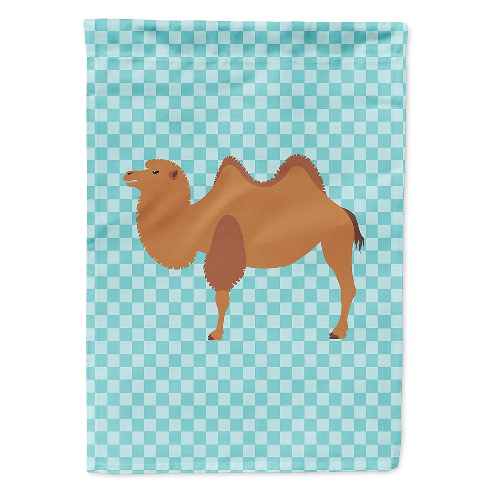 Buy this Bactrian Camel Blue Check Flag Garden Size