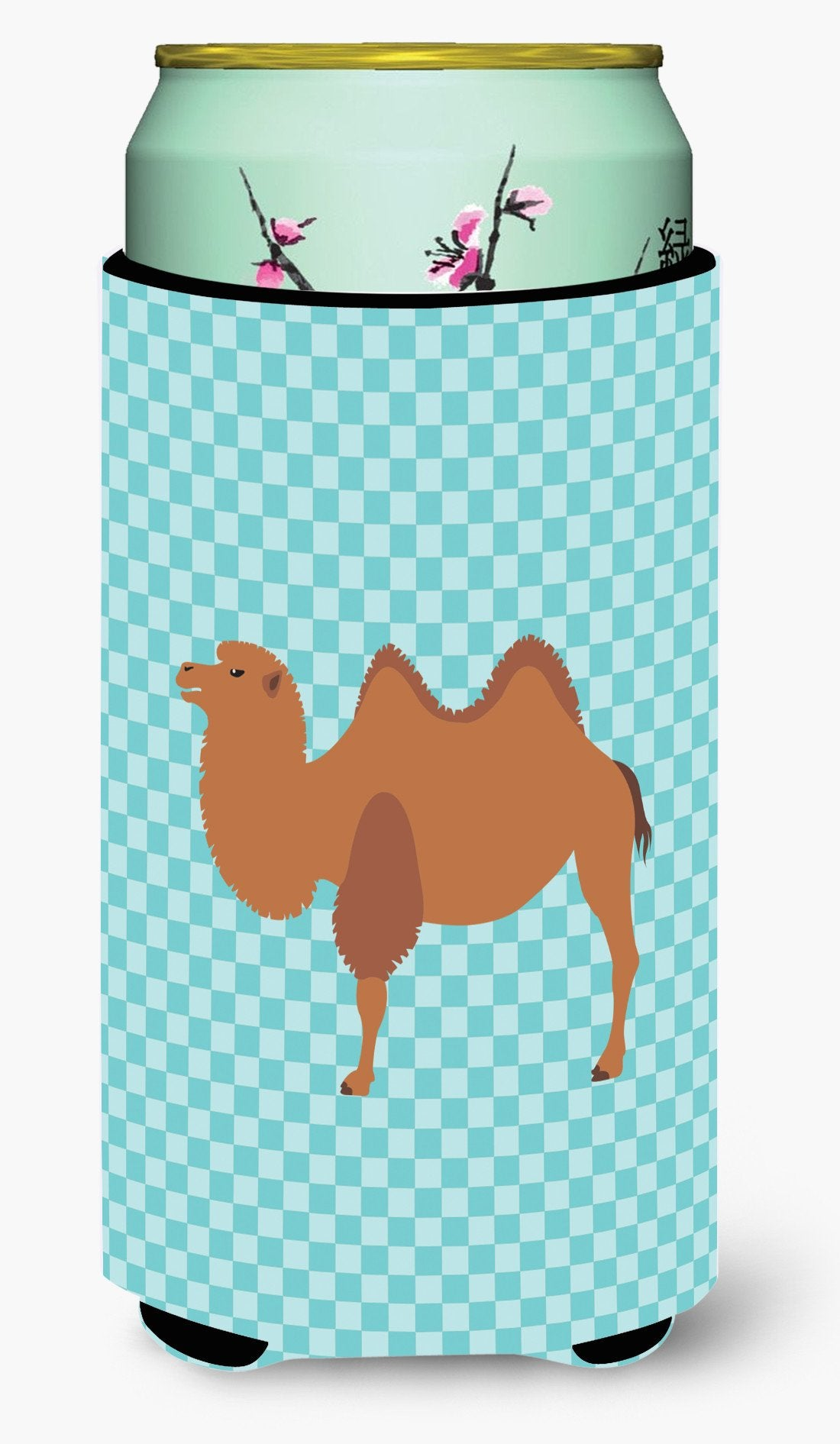 Bactrian Camel Blue Check Tall Boy Beverage Insulator Hugger BB7992TBC by Caroline's Treasures