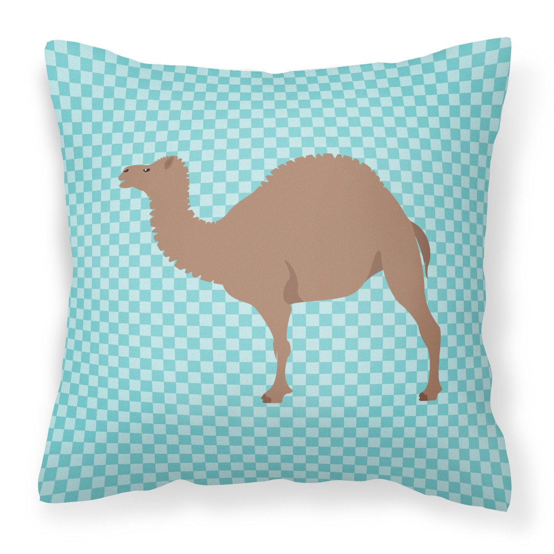 F1 Hybrid Camel Blue Check Fabric Decorative Pillow BB7993PW1818 by Caroline's Treasures