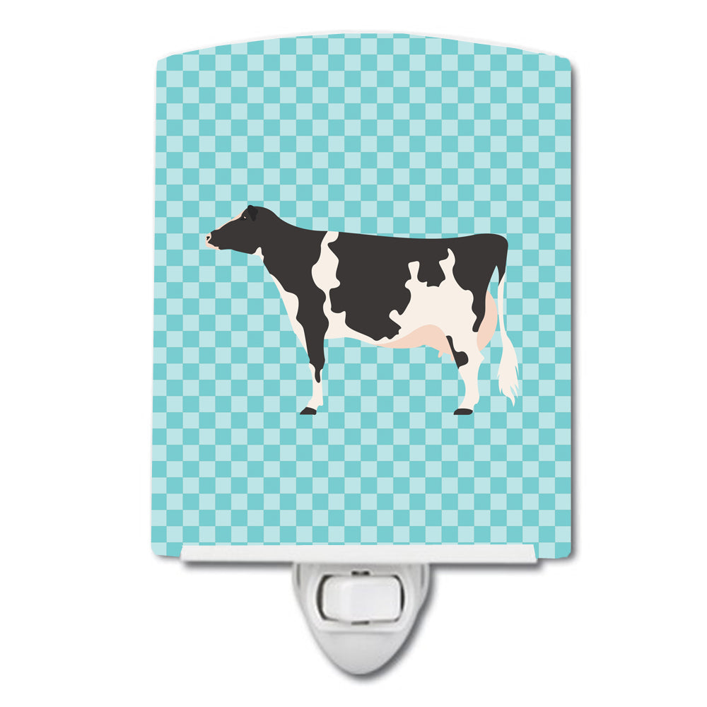 Holstein Cow Blue Check Ceramic Night Light BB7996CNL by Caroline's Treasures
