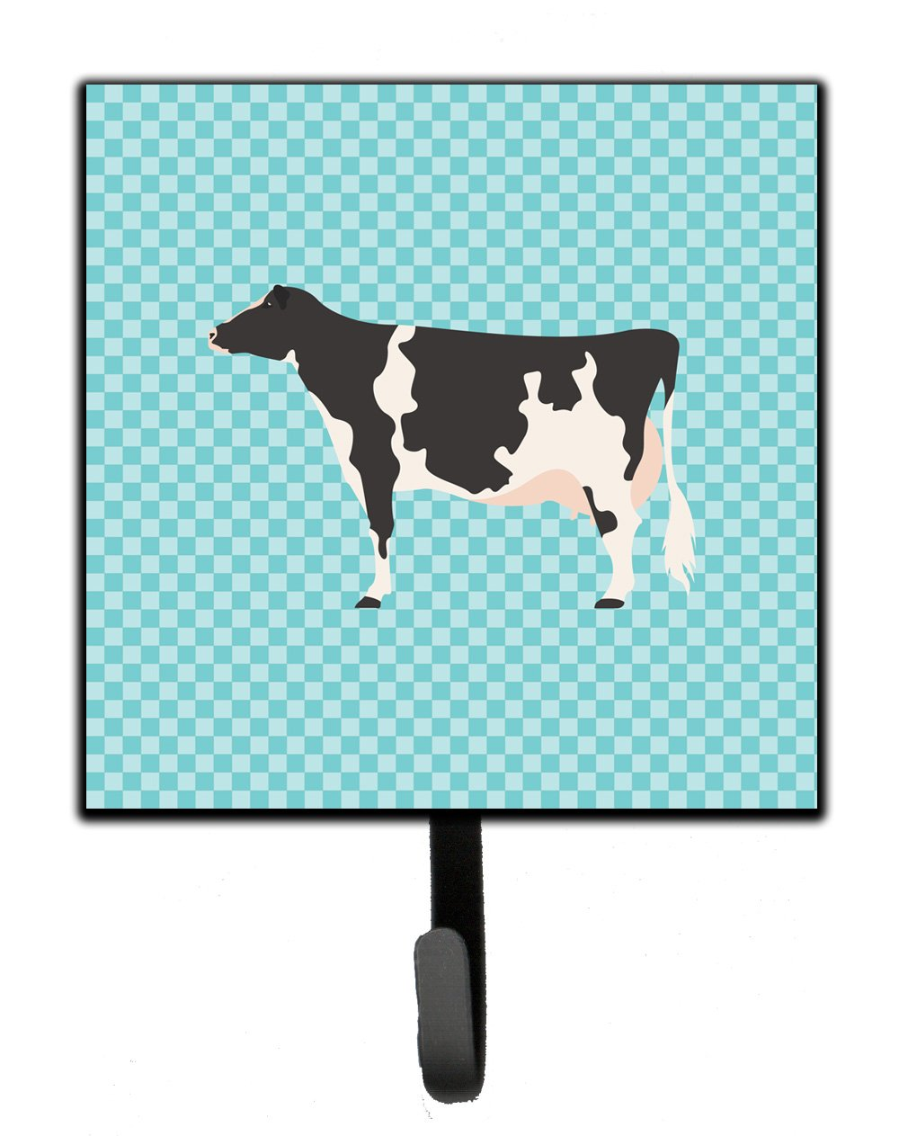 Holstein Cow Blue Check Leash or Key Holder by Caroline's Treasures