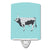 Hungarian Grey Steppe Cow Blue Check Ceramic Night Light BB7998CNL by Caroline's Treasures