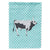Hungarian Grey Steppe Cow Blue Check Flag Garden Size by Caroline's Treasures