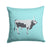 Hungarian Grey Steppe Cow Blue Check Fabric Decorative Pillow BB7998PW1414 by Caroline's Treasures