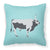 Hungarian Grey Steppe Cow Blue Check Fabric Decorative Pillow BB7998PW1818 by Caroline's Treasures