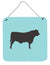 Black Angus Cow Blue Check Wall or Door Hanging Prints BB8002DS66 by Caroline's Treasures