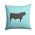 Black Angus Cow Blue Check Fabric Decorative Pillow BB8002PW1414 by Caroline's Treasures
