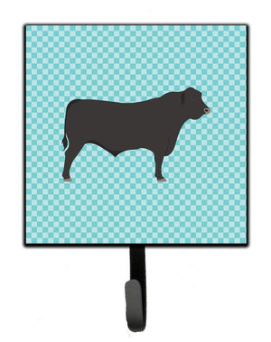 Buy this Black Angus Cow Blue Check Leash or Key Holder