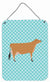 Jersey Cow Blue Check Wall or Door Hanging Prints BB8003DS1216 by Caroline's Treasures