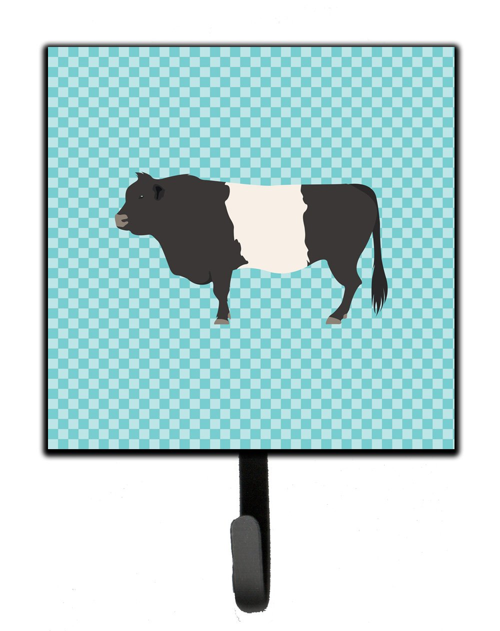 Belted Galloway Cow Blue Check Leash or Key Holder by Caroline's Treasures