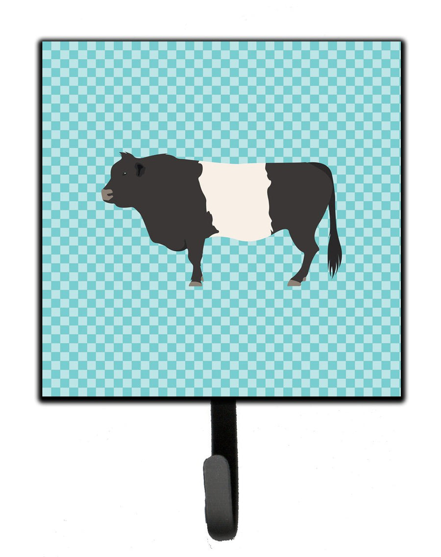 Buy this Belted Galloway Cow Blue Check Leash or Key Holder