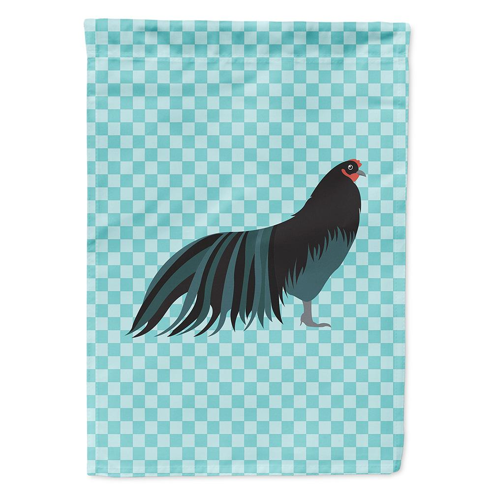 Sumatra Chicken Blue Check Flag Garden Size by Caroline's Treasures