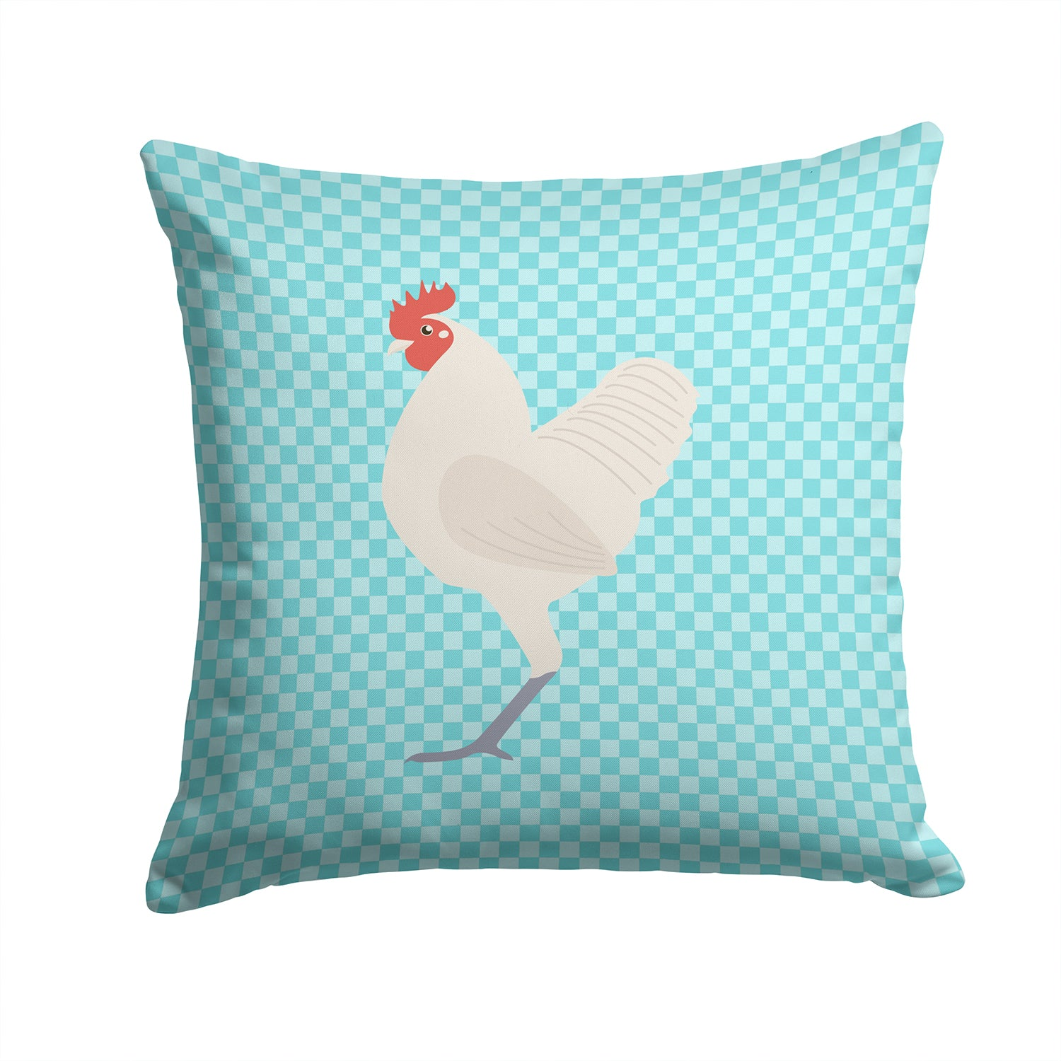 German Langshan Chicken Blue Check Fabric Decorative Pillow BB8011PW1414 by Caroline's Treasures