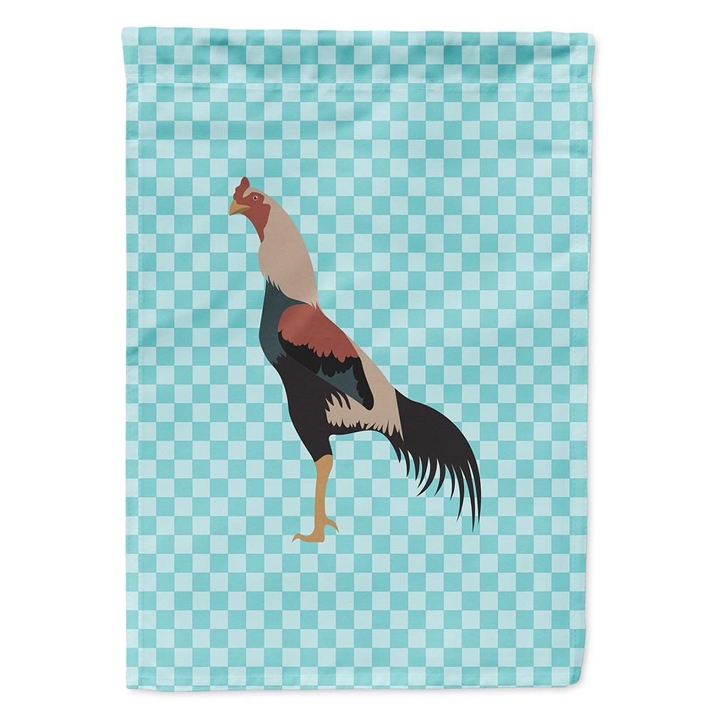Kulang Chicken Blue Check Flag Garden Size BB8012GF by Caroline's Treasures