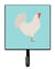 Leghorn Chicken Blue Check Leash or Key Holder by Caroline's Treasures