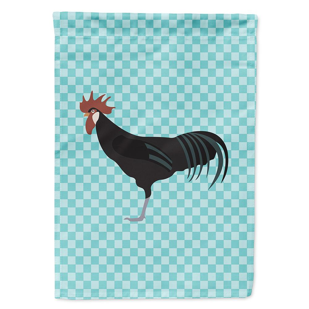 Minorca Ctalalan Chicken Blue Check Flag Garden Size by Caroline's Treasures