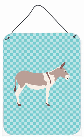 Buy this Australian Teamster Donkey Blue Check Wall or Door Hanging Prints BB8020DS1216