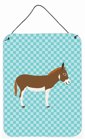 Buy this Miniature Mediterranian Donkey Blue Check Wall or Door Hanging Prints BB8021DS1216