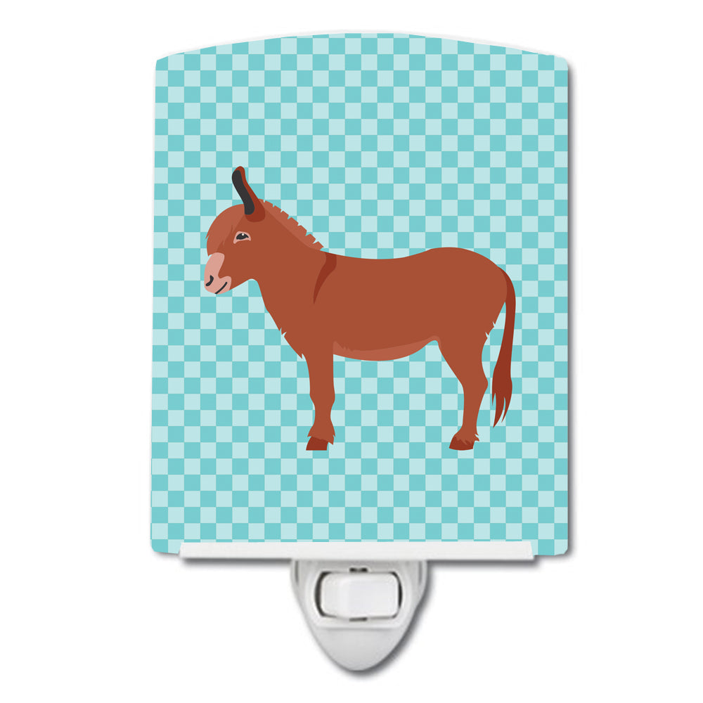Irish Donkey Blue Check Ceramic Night Light BB8022CNL by Caroline's Treasures