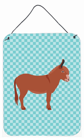Buy this Irish Donkey Blue Check Wall or Door Hanging Prints BB8022DS1216