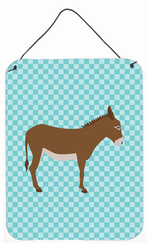 Buy this Cotentin Donkey Blue Check Wall or Door Hanging Prints BB8023DS1216