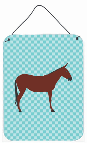 Buy this Hinny Horse Donkey Blue Check Wall or Door Hanging Prints BB8024DS1216