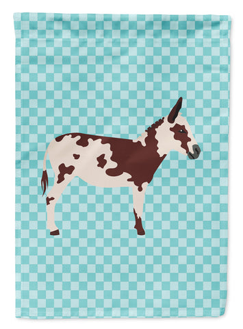 Buy this American Spotted Donkey Blue Check Flag Canvas House Size BB8025CHF