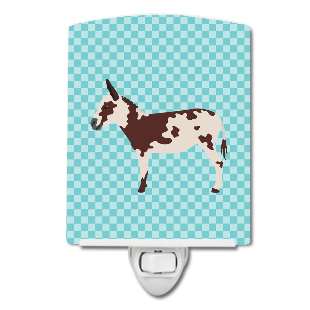 American Spotted Donkey Blue Check Ceramic Night Light BB8025CNL by Caroline's Treasures