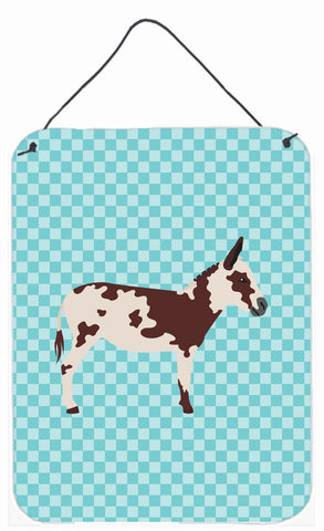 Buy this American Spotted Donkey Blue Check Wall or Door Hanging Prints BB8025DS1216