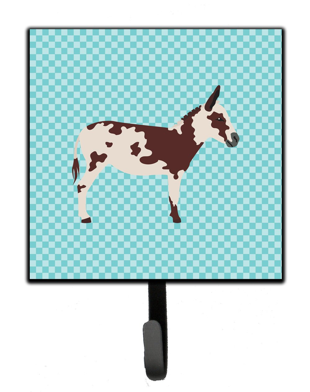 American Spotted Donkey Blue Check Leash or Key Holder by Caroline's Treasures