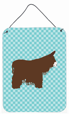 Buy this Poitou Poiteuin Donkey Blue Check Wall or Door Hanging Prints BB8026DS1216
