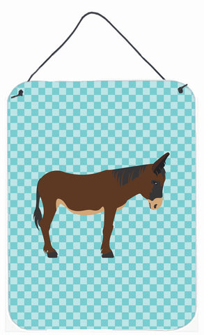 Buy this Zamorano-Leones Donkey Blue Check Wall or Door Hanging Prints BB8027DS1216