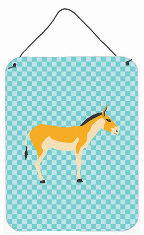 Buy this Turkmenian Kulan Donkey Blue Check Wall or Door Hanging Prints BB8028DS1216