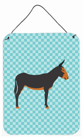 Buy this Catalan Donkey Blue Check Wall or Door Hanging Prints BB8029DS1216