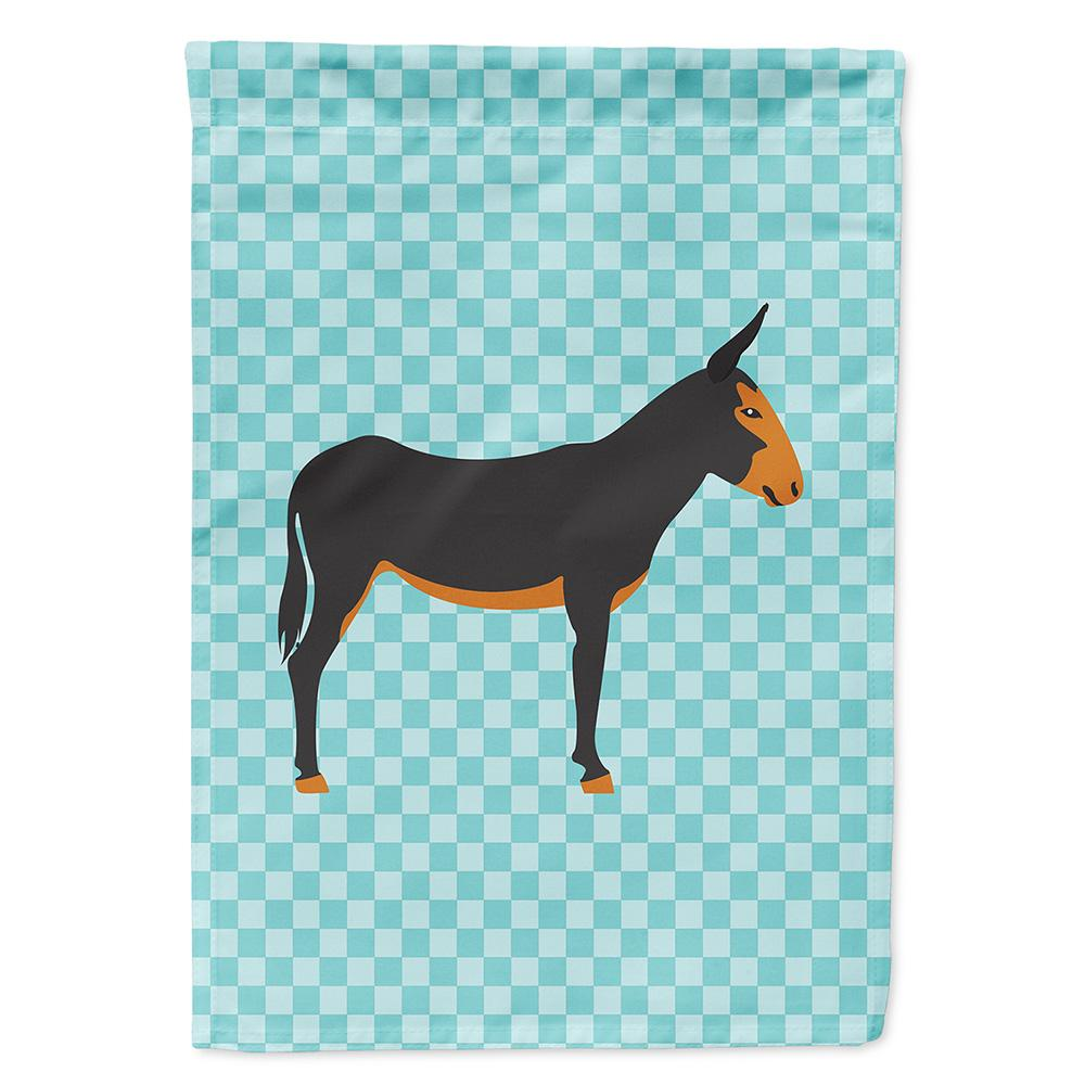 Buy this Catalan Donkey Blue Check Flag Garden Size