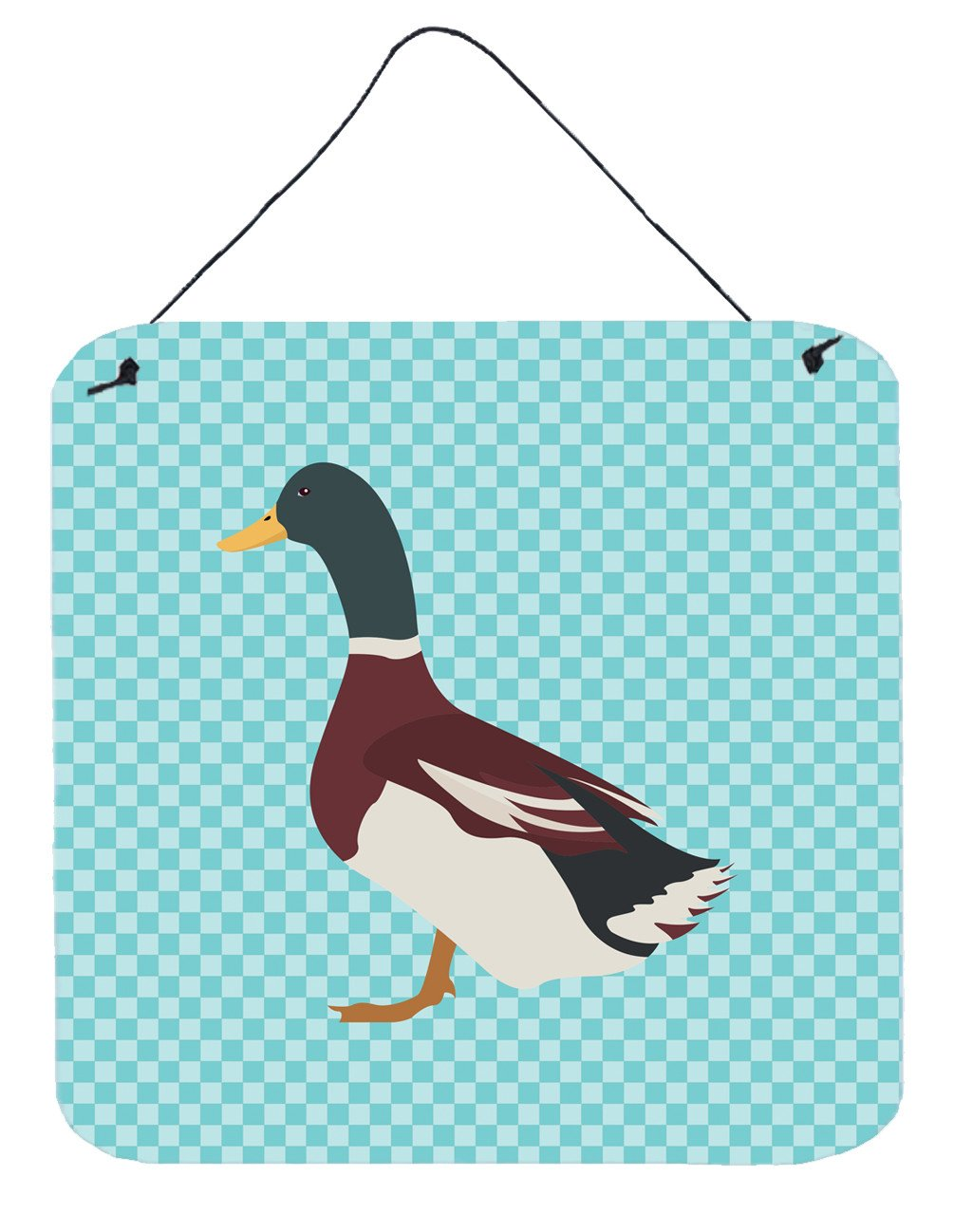 Buy this Rouen Duck Blue Check Wall or Door Hanging Prints BB8030DS66