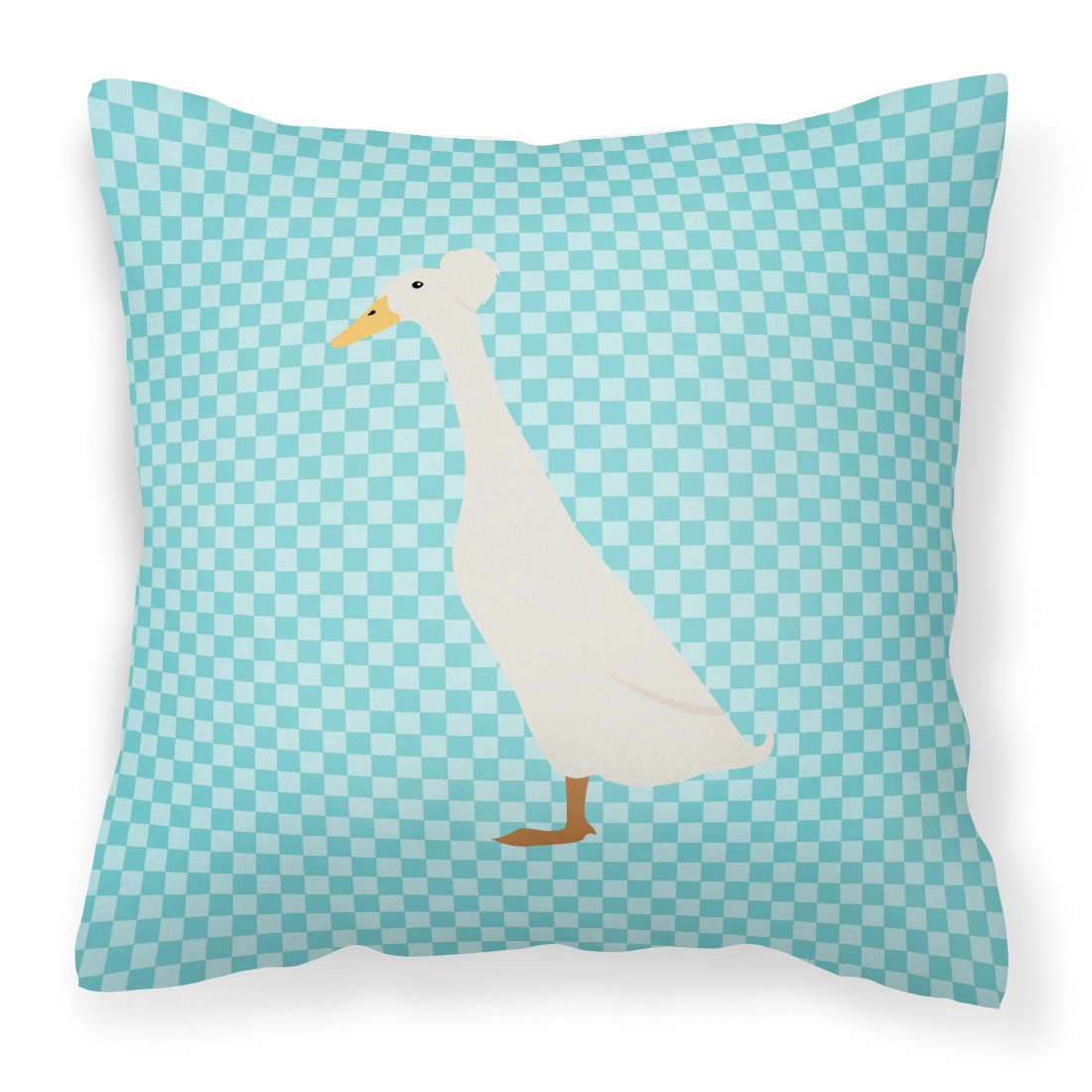 Bali Duck Blue Check Fabric Decorative Pillow BB8033PW1818 by Caroline's Treasures