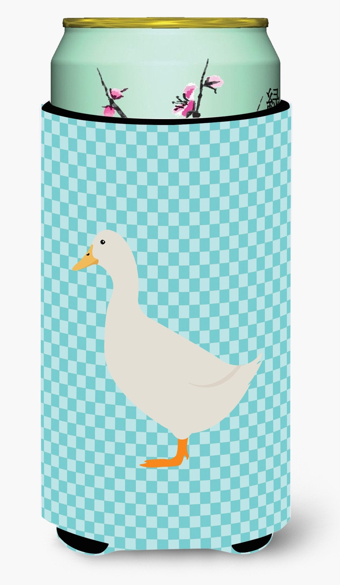American Pekin Duck Blue Check Tall Boy Beverage Insulator Hugger BB8034TBC by Caroline's Treasures