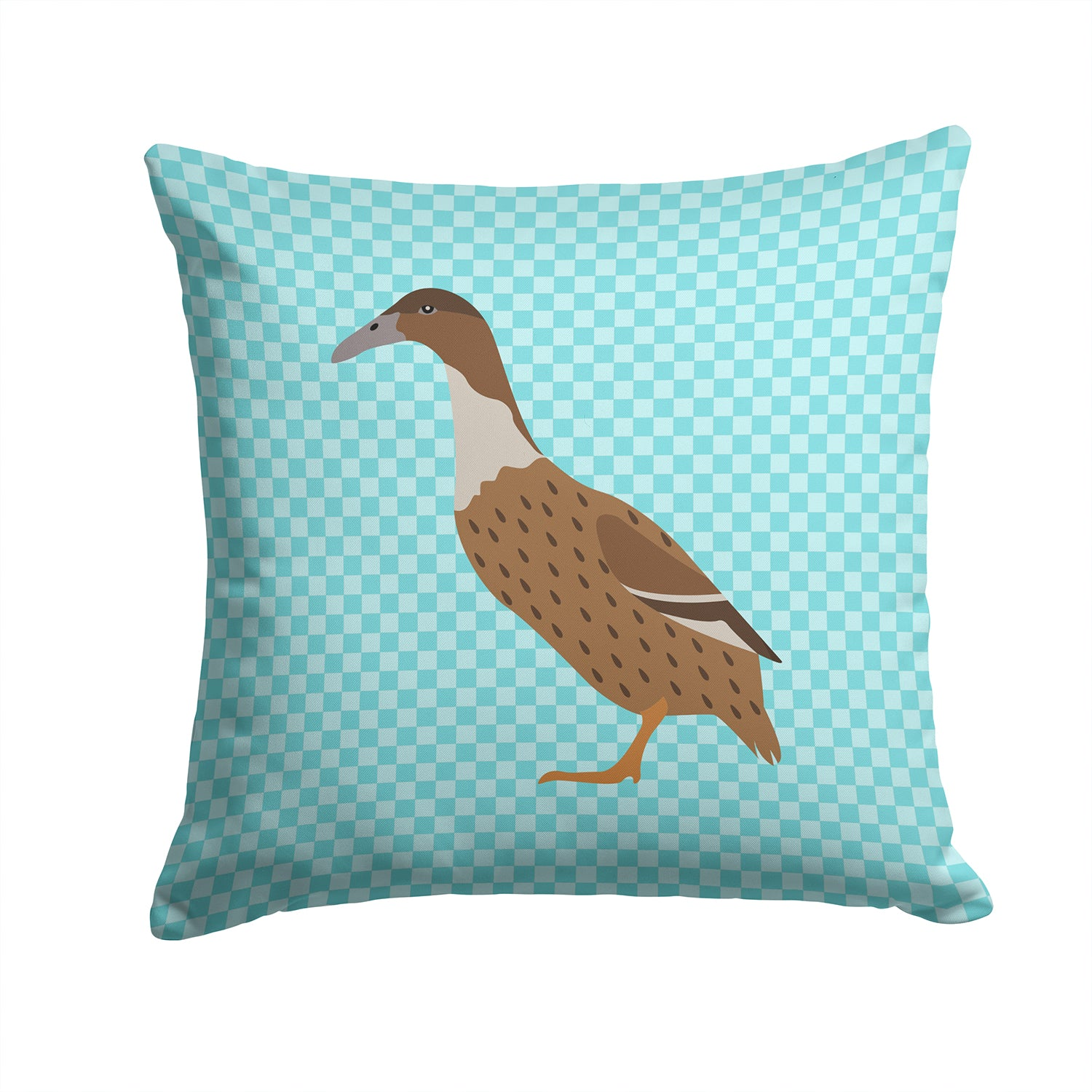 Buy this Dutch Hook Bill Duck Blue Check Fabric Decorative Pillow BB8035PW1414