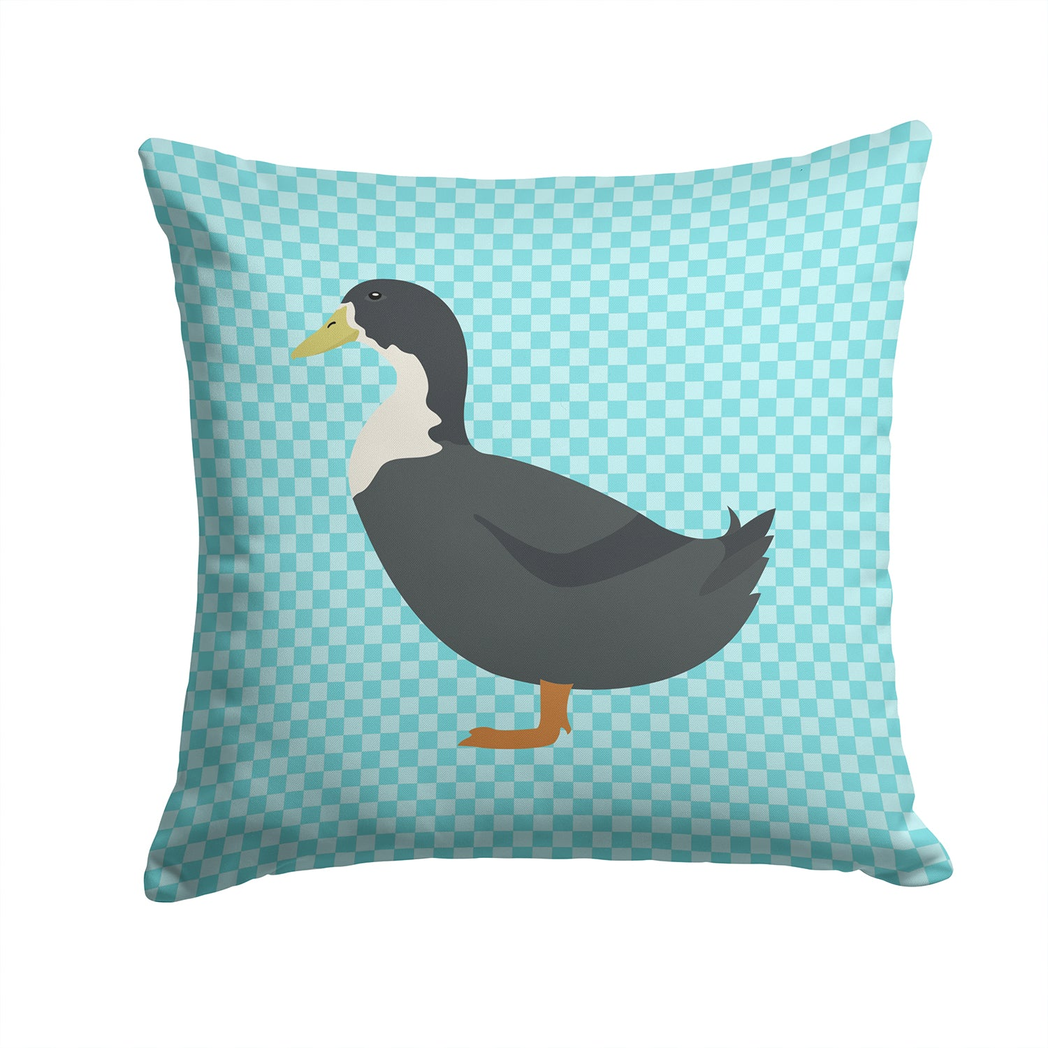 Blue Swedish Duck Blue Check Fabric Decorative Pillow BB8036PW1414 by Caroline's Treasures