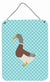 Saxony Sachsenente Duck Blue Check Wall or Door Hanging Prints BB8037DS1216 by Caroline's Treasures