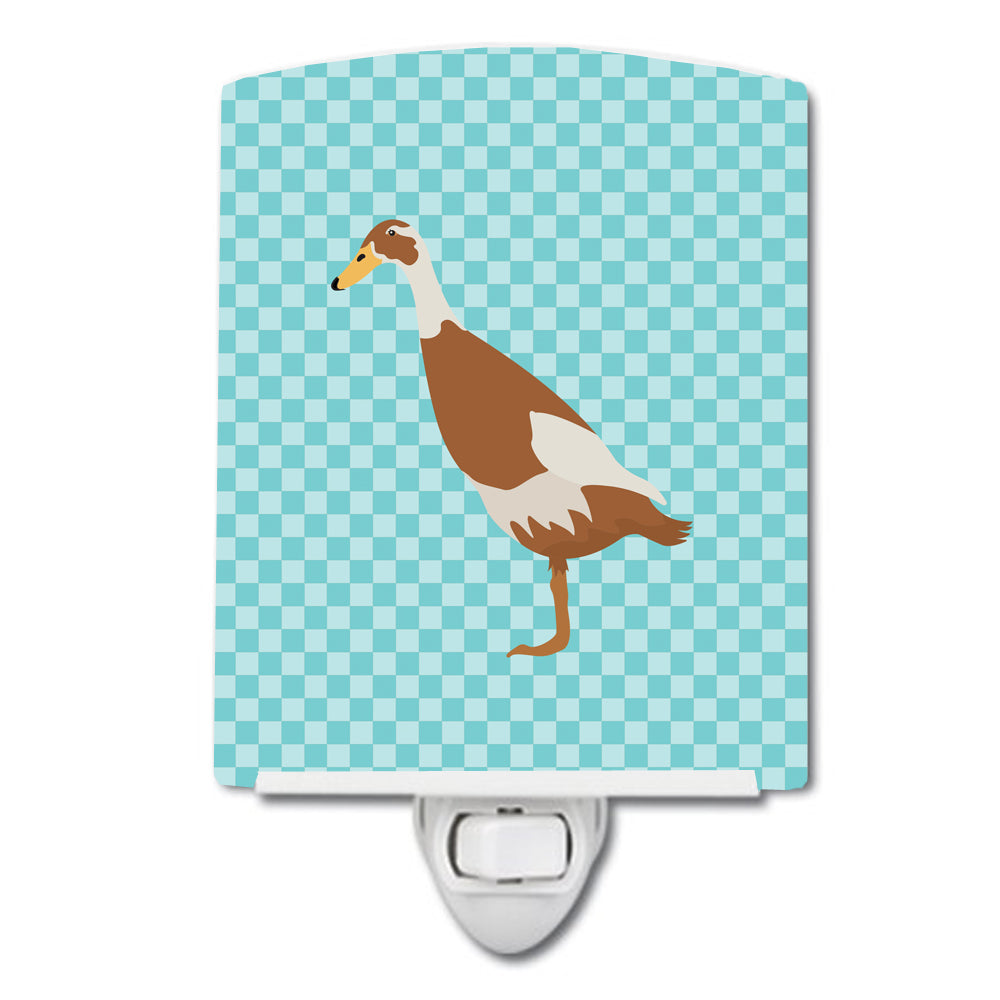 Indian Runner Duck Blue Check Ceramic Night Light BB8039CNL by Caroline's Treasures