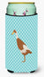 Indian Runner Duck Blue Check Tall Boy Beverage Insulator Hugger BB8039TBC by Caroline's Treasures